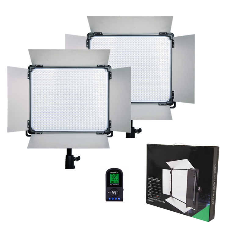DHL Free 2 pcs Brand Dison Remote Control LED Lamp E-528II 40W 524 LED Slim video light Studio Photography led video Lighting