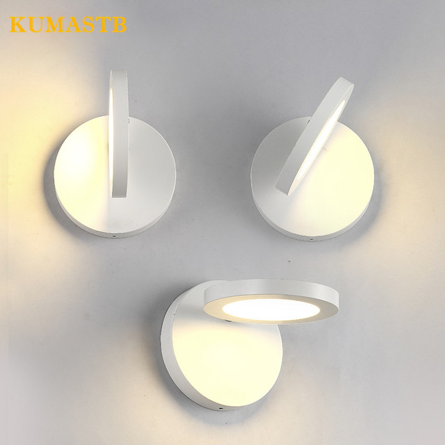 Creative Personalized Bedside Wall Sconce Aisle Bedroom Light Living Room White Lamp Modern Nordic Round