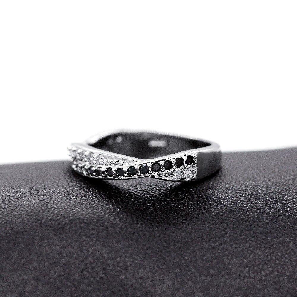Almei μαύρο ασημένιο δαχτυλίδι χρώματος - Κοσμήματα μόδας - Φωτογραφία 6