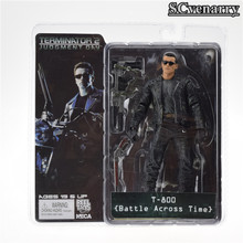 "NECA O Exterminador Do Futuro 2 Action Figure T-800 Battle Across Time Batalha PVC Action Figure Collectible Toy 7 ""18 cm(China)"