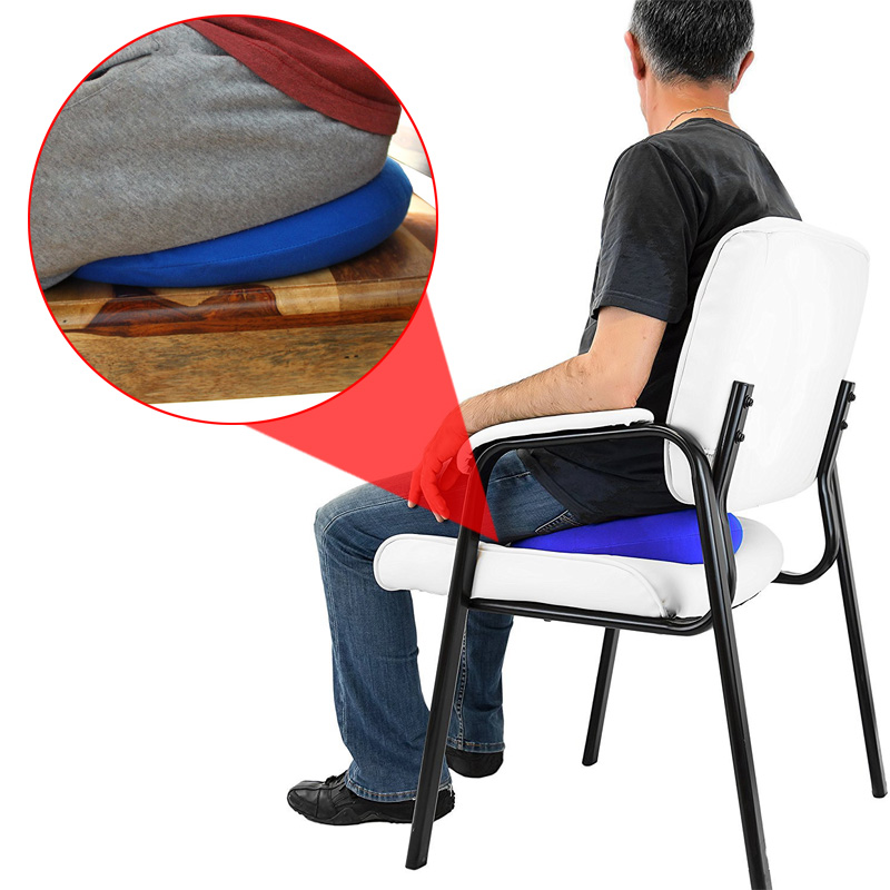 Inflatable Ring Round Pillow Chair Pad Hip Support Medical Hemorrhoid Seat Massage Cushion with Pump Dropshipping