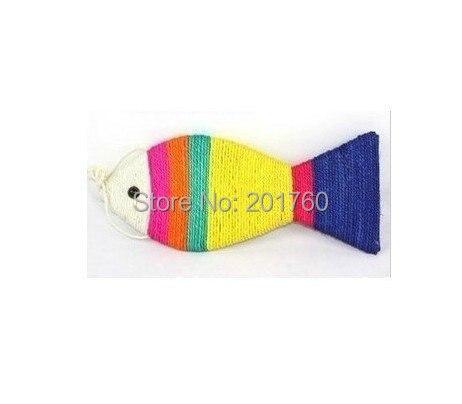 Hot Sell cute Pet Cat Toy Big sisal Fish Shape Cat Scratch Board 3pcs/lot Free Shipping