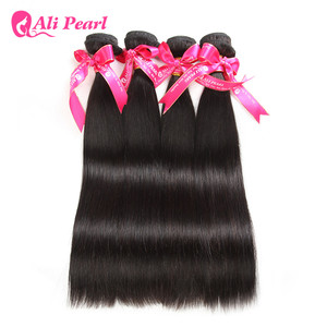 Image 3 - AliPearl Hair Straight Human Hair Bundles 4 Pcs Weft Brazilian Hair Weave Bundles Natural Color 8 30inches Remy Hair Extensions