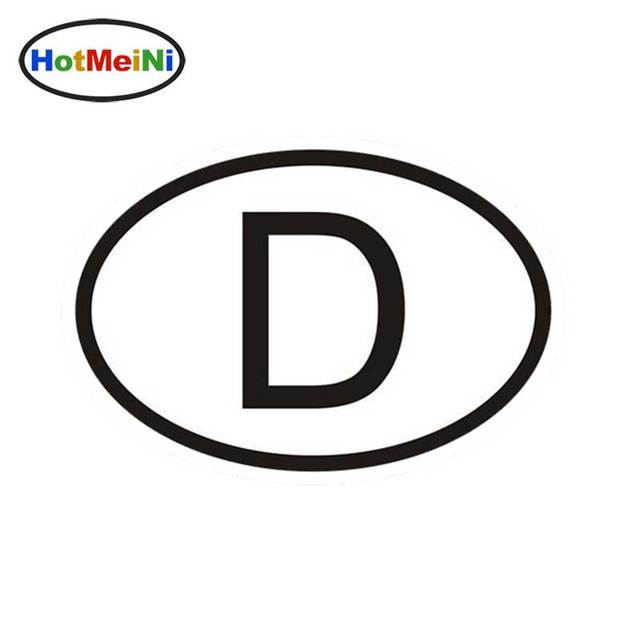 D germany country code oval car sticker reflective auto vinyl decals for car accessories bumper window