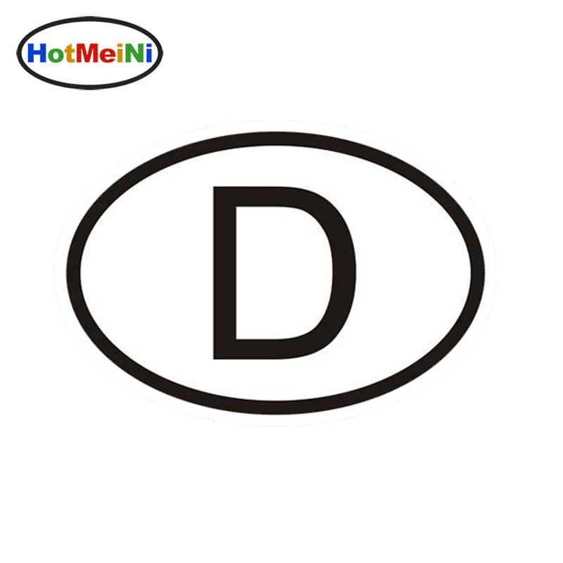 D Germany Country Code Oval Car Sticker Reflective