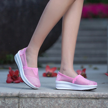 Liren 2019 Summer Sweet Air Mesh Comfortable Breathable Woman Shoes Sneakers Casual Women Round Wrapped Toe Size 35-40
