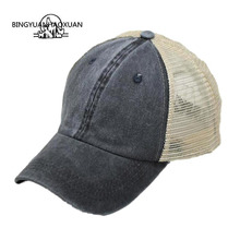 BINGYUANHAOXUAN New Men Baseball Cap Printing Mesh Hat Summer Hats For Men Women Snapback Gorras Papa Hats Casual Hip Hop Caps недорого