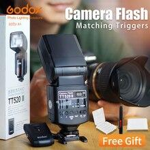 Godox فلاش كاميرا Thinklite TT520II مع إشارة لاسلكية 433 ميجا هرتز مدمج لكاميرات Nikon و Canon و Pentax و Olympus و DSLR