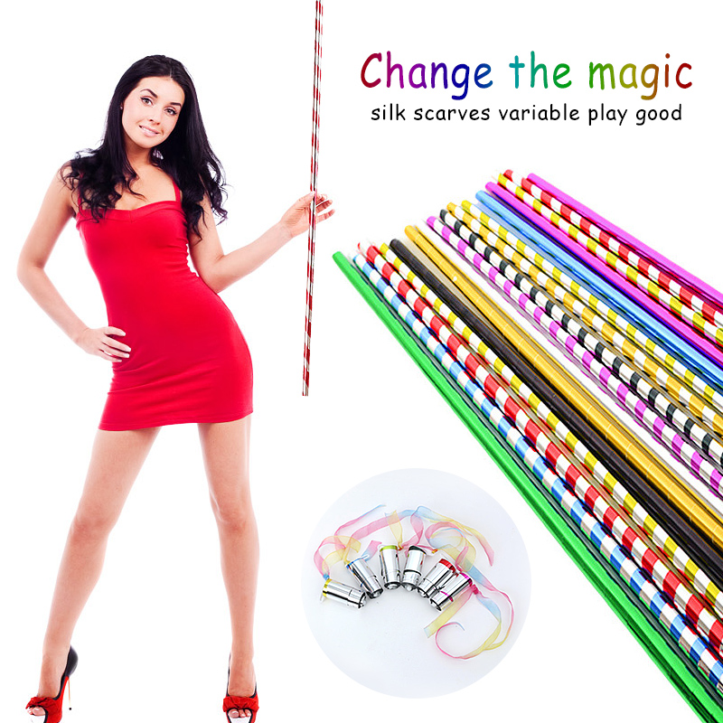 1pcs Long Appearing Cane Plastic Stage Stick Magic Cane Close Up Magic Tricks 70cm professional magician stage street illusion image