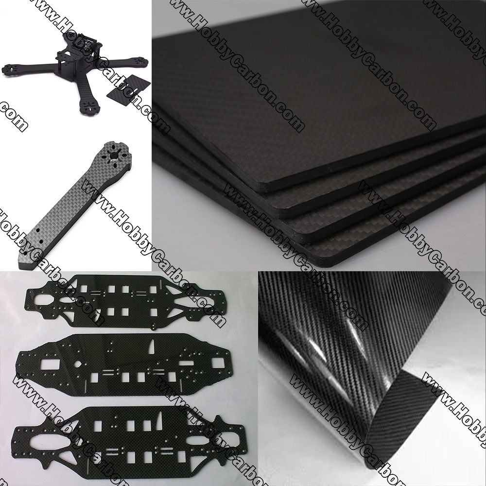 Mix thickness 1.0mm/2.0mm/3.0mm Full Carbon fiber plate sheets 3k twill matte Unidirectional CF carbon plates Epoxy Resin hct005 best selling 8pcs pack 16x14x500mm 3k twill matte tubes rod boom 100% carbon fiber resin