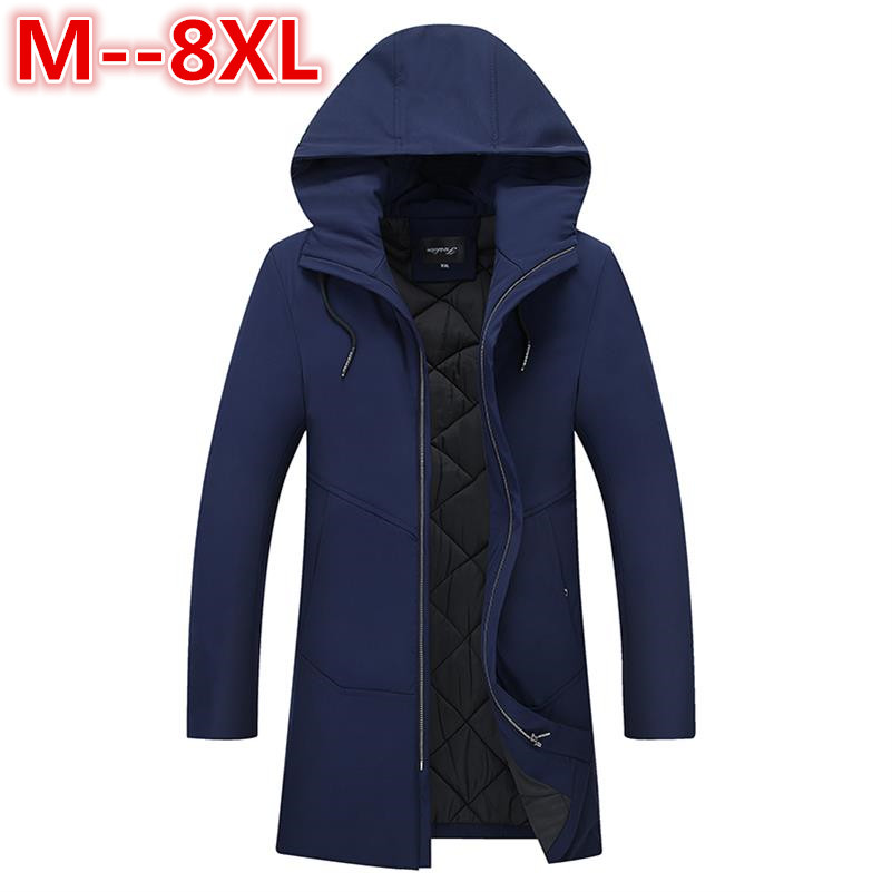 Plus size 8xl 6xl 5xl -25 Degree Temperature Parka Men Cotton Padded Long Thick Warm Casual Winter Jacket Men big large size 4xl e artist men s long winter jacket velvet padded jackets trench coats parka thick fit casual outdoor black wine plus size 5xl a65