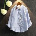 2017 nuevos niños camisetas de moda casual niños bebés niñas adolescentes camisetas de rayas blusas lindo conejo de dibujos animados bebé ropa de los cabritos ht022