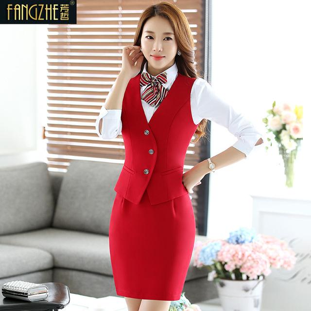 Nova Companhia Aérea Uniformes Formal Blazer Mulheres Ternos de Saia do Desgaste do Trabalho Personalizado Styles Uniformes Ladies Escritório