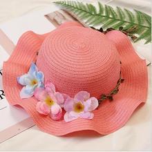 Ladies Flower Straw Hat
