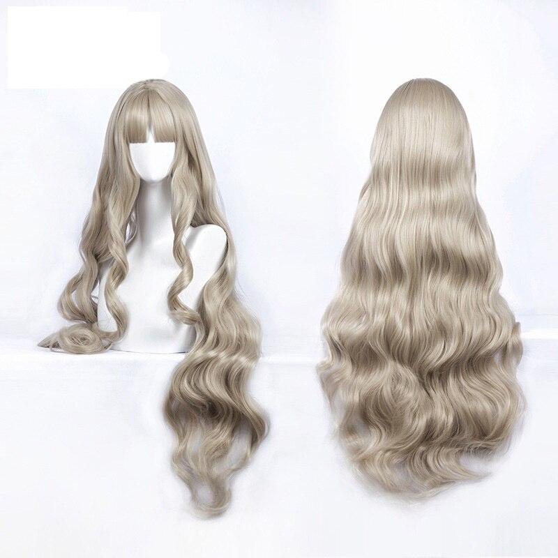 DARLING In The FRANXX Code 556 KOKORO Cosplay Wig Long Wavy Curly Synthetic Hair + Wig Cap