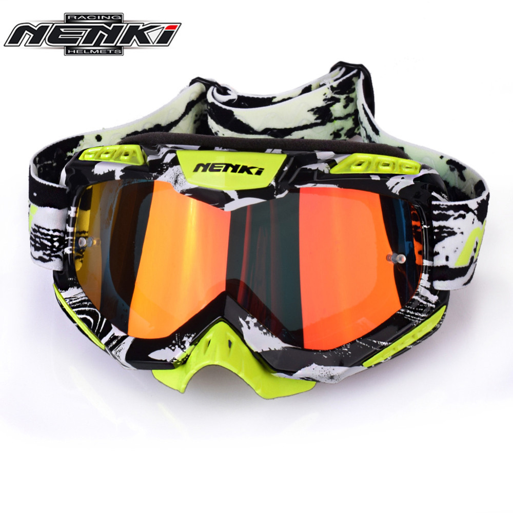 NENKI Motocross Goggles Cross Country Skis Snowboard ATV Mask Oculos Gafas Motocross Motorcycle Helmet 1016 1