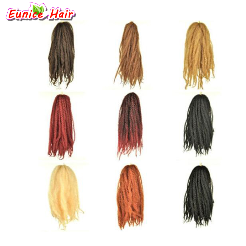 613 blonde 18 pulgadas afro Marley trenza Kinky Twist cabello ...