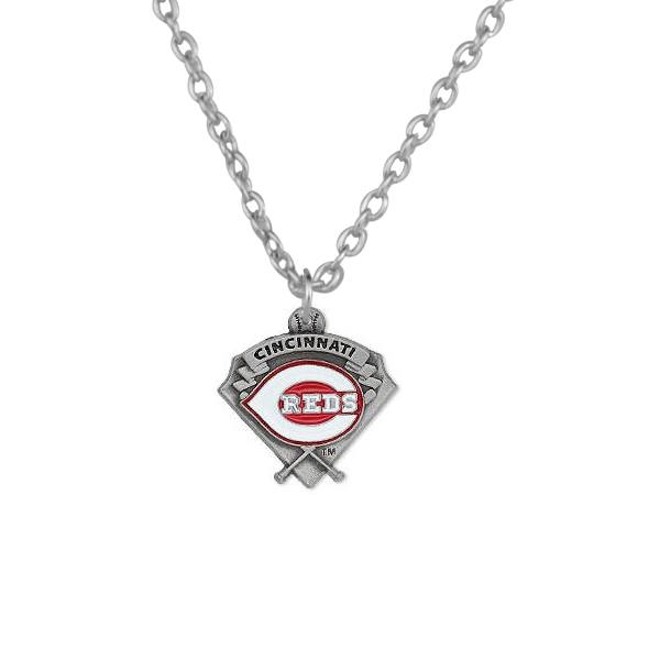 10PCS Fashion Cincinnati Reds Charm Pendant Necklace Alloy Baseball Team Charms Necklace Statement Accessories