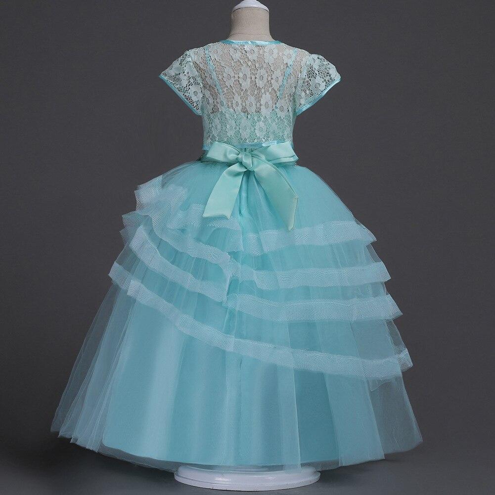 Light Blue Lavender Pink Kids Short Cape Jacket Layered Long Dress ...