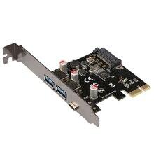 USB 3.1 Type-C + 2 порта usb 3.0 типа A + SATA 15-КОНТАКТНЫЙ USB заголовок PCI-e Карты Настольных PCI Express для USB3.1 адаптер