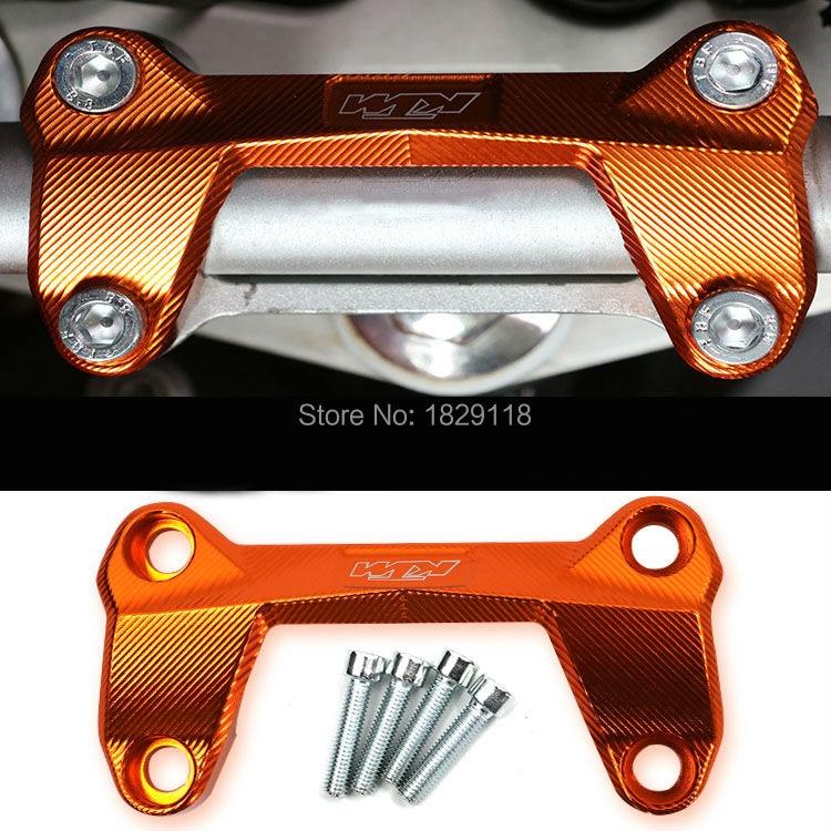 Orange Motorcycle CNC Aluminum Handlebar Risers Top Cover Clamp Fit For KTM DUKE 390 200 125 Dirt Bike