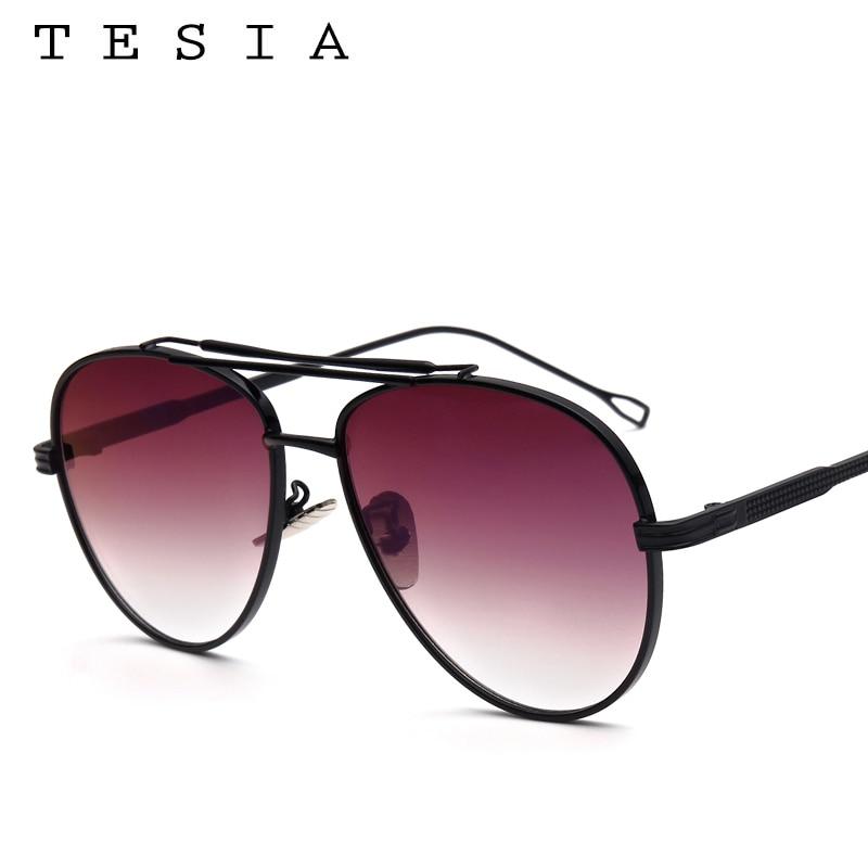 TESIA Pilot Solglasögon Män Brand Designer Reflekterande Mirrored - Kläder tillbehör - Foto 5