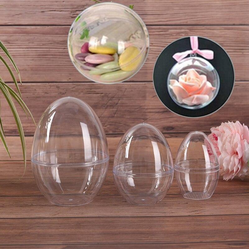 Bath Bomb Mold Plastic Clear Reusable Eggs Shape Bath Care Tool