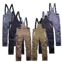 High quality men's ski pants thicken suspenders outdoor ski men skiing and snowboarding pants sport trousers pantalones hombre