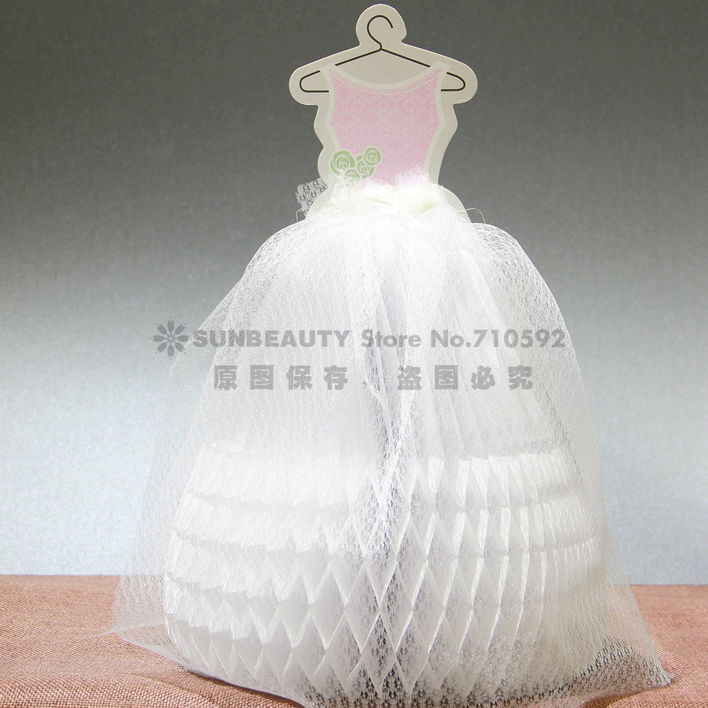 Honeycomb Wedding Dress Table Center Decoration Bride Marriage Gauze Centerpiece Anniversary In Party Diy Decorations From Home