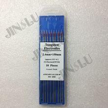 10 шт. 2% Красный наконечник WT20 ториевый вольфрамовый электрод 2,4 мм для аргонодуговой сварки