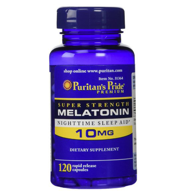 Super Strength Rapid Release Capsules Melatonin 10 mg ,120 Count  free shipping