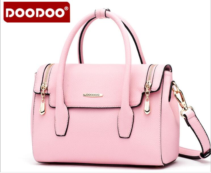 DOODOO Brand New Arrival Women PU leather Handbag Messenger Bag Famous Designer Shoulder Bag Bolsa feminina Tote Bags FR413 handbag shengdilu brand new 2018 women genuine leather high end tote shoulder messenger bag free shipping bolsa feminina