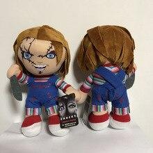 """Chucky MEZCO New 9 """"Brincadeira de Criança Com Cicatrizes Assustando Action Figure Modelo Toy Collectible Boneca de Pelúcia de Algodão PP Em estoque"""