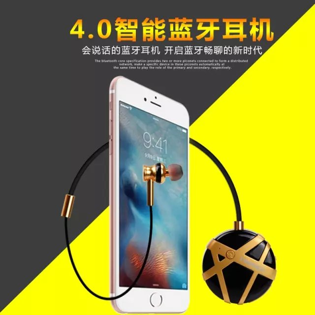 Mini Sport Stereo Bluetooth Headset  Anti-Lost Wireless bluetooth Handsfree Earphone Headphone For iphone Samsung all phone high quality 2016 universal wireless bluetooth headset handsfree earphone for iphone samsung jun22