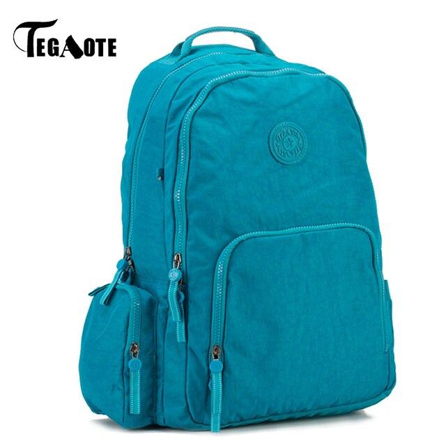 TEGAOTE School Backpack for Teenage Girl Nylon Waterproof Backpack Laptop Female  Casual Bagpack Ladies Rucksack Mochila Feminina 581cfd691a9a6