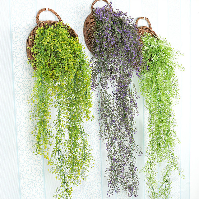 Pendurado decoração da parede planta simulação plantas de flores de plástico cesta de vime móveis Restaurante Orquídea ornamentos