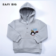 EASY BIG Spring Autumn 100% Cotton Long Sleeve Children Hoodies For Boys Hoody Pullover Top Shirts Kids Jerseys CC0124
