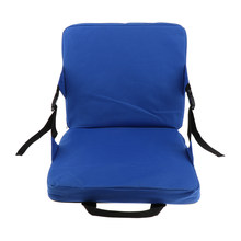 Antypoślizgowa składana zewnętrzna mata kempingowa poduszka siedziska przenośna wodoodporna krzesło piknik stadion miękka wyściółka siedziska niebieski