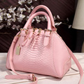 2016 Fashion Women Handbag Women Messenger Bag Ladies Crocodile Pattern Leather bag High Quality Shell Bag Crossbody Bags