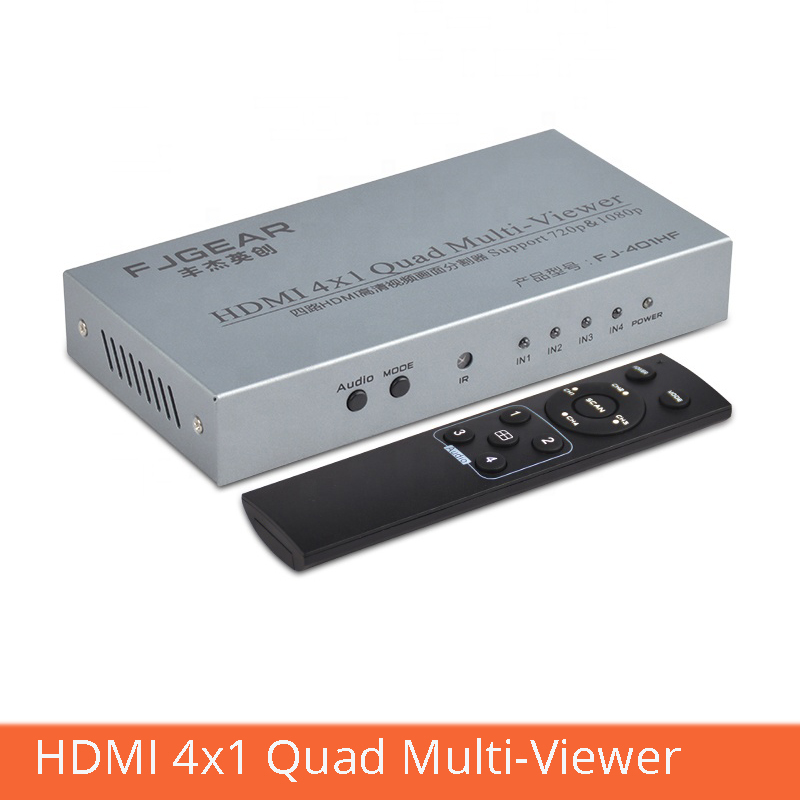 HDMI 4x1 Quad Multi-viewer Hdmi Video Splitter Four In One Out With Remote Control Switching 1080p