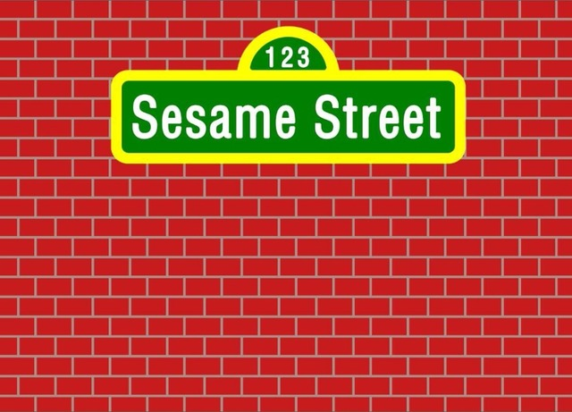 7x5FT Dark Red Bricks Wall Sesame Street Custom Photo Background Backdrop Vinyl 220cm X 150cm