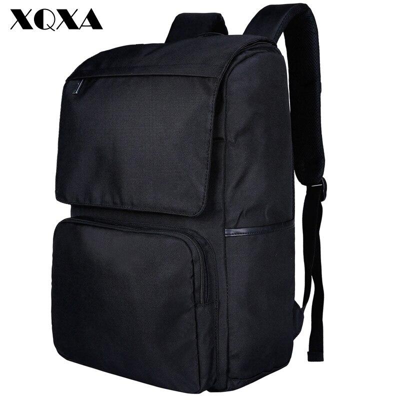XQXA Casual Men Charging Backpacks Large Capacity Oxford Rucksack 15.6'' USB Laptop Backpack Brand School Bag for Teenagers kaka men large capacity oxford laptop bag men s backpacks unisex women backpack new arrival backpack bag oxford men bag x475
