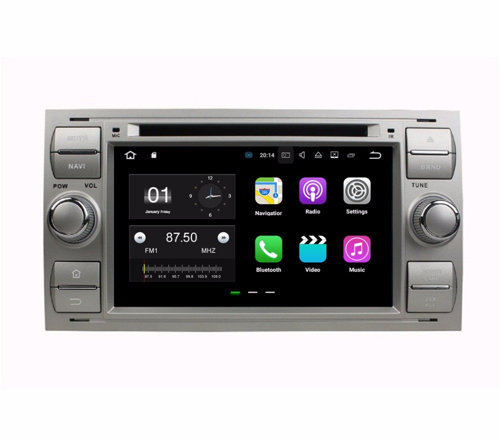 2GB RAM Quad Core 2 din 7 Android 7.1 Car DVD Player for Ford Focus Mondeo S-MAX C-MAX Galaxy Fiesta Form Fusion Connect