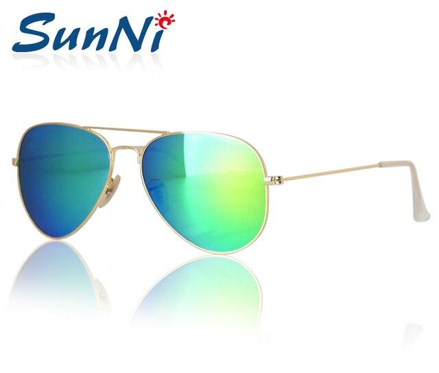 Hot Sale Top Quality Sunglasses Women Brand Designer Men Glasses Alloy Frame Flash Green Lenses With Fine Case 58mm62mm
