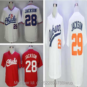 26776cb04 Stitched Throwback Baseball Jerseys Chicks Movie jerseys 29 Bo Jackson  Auburn Tigers