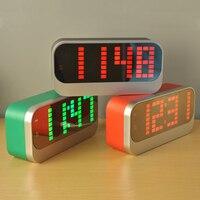 Big Digital LED Weather Station Alarm Clock Indoor Temperature Meter Date Display Desk Table Electronic Thermometer Backlight