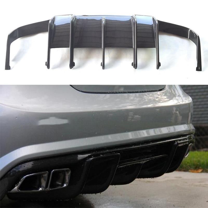 Для Mercedes-Benz CLS Class W218 CLS350 CLS63 AMG бампер из углеродного волокна задний багажник диффузор 2011 ~ 2014