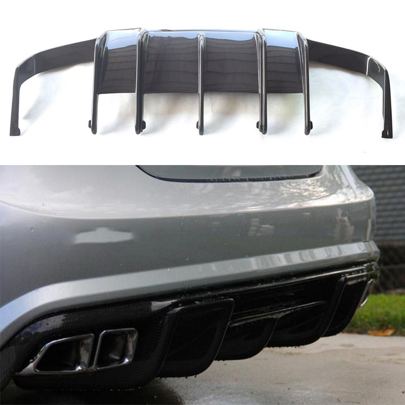For Mercedes Benz CLS Class W218 CLS350 CLS63 AMG Bumper Carbon Fiber Rear Trunk Diffuser 2011~2014 2010 2014 mercedes benz cls63 amg black weathertech cargo liners