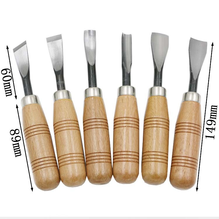HOEN 6pcs Hand Engraving Knife Wood Carving Woodcut Knives Tool Woodworking Cutting Engrave Tools Set woodcut knife hand tool set wood carving knife with box snap off knife woodworking chisel sets rubber stamp carving tools