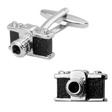 Men's shirts Cufflinks high-quality copper material Black camera Cufflinks 2 pairs of packaging for sale